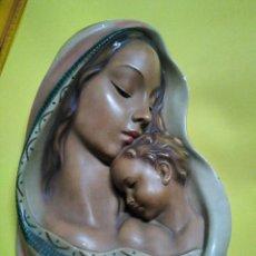 Artesanía: IMAGEN FIGURA IMAGEN EN ESCAYOLA VIRGEN MARIA NIÑO JESUS. Lote 132771325