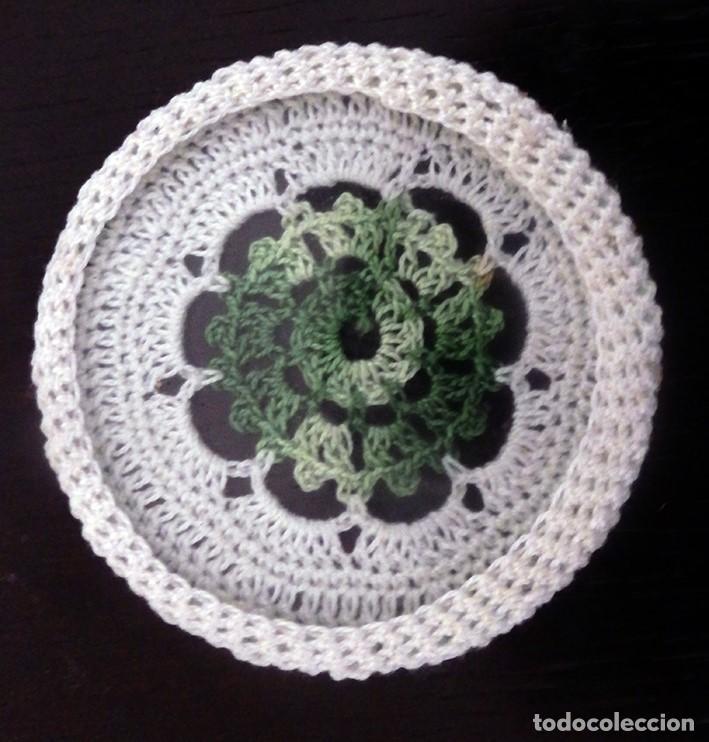 Artesanía: Posavasos cristal sobrecubiertos ganchillo - Foto 4 - 133236474