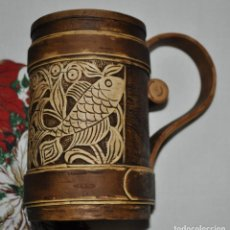 Artesanía: MUG MADE OF BIRCH BARK FOR COLD DRINKS. Lote 134112798