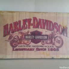 Artesanía: MADERA CON TRANSFER FOTOGRÁFICO. HARLEY DAVIDSON.. Lote 135933861