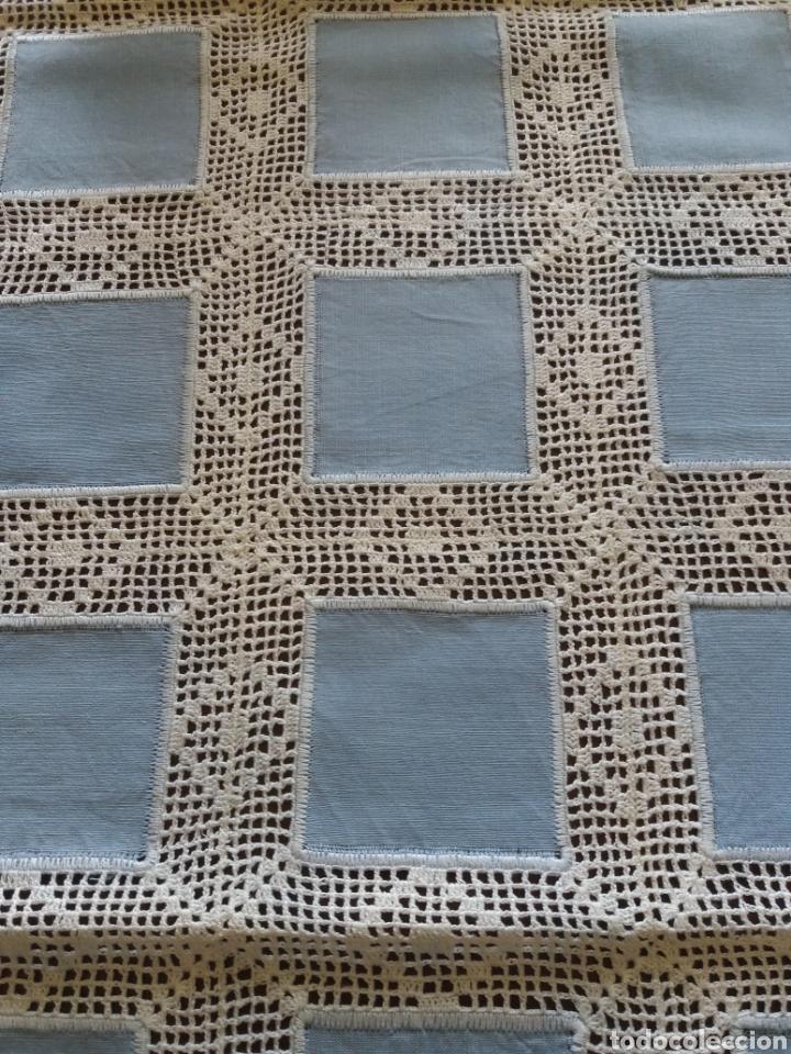 Artesanía: Camino de mesa azul - Foto 2 - 136815858