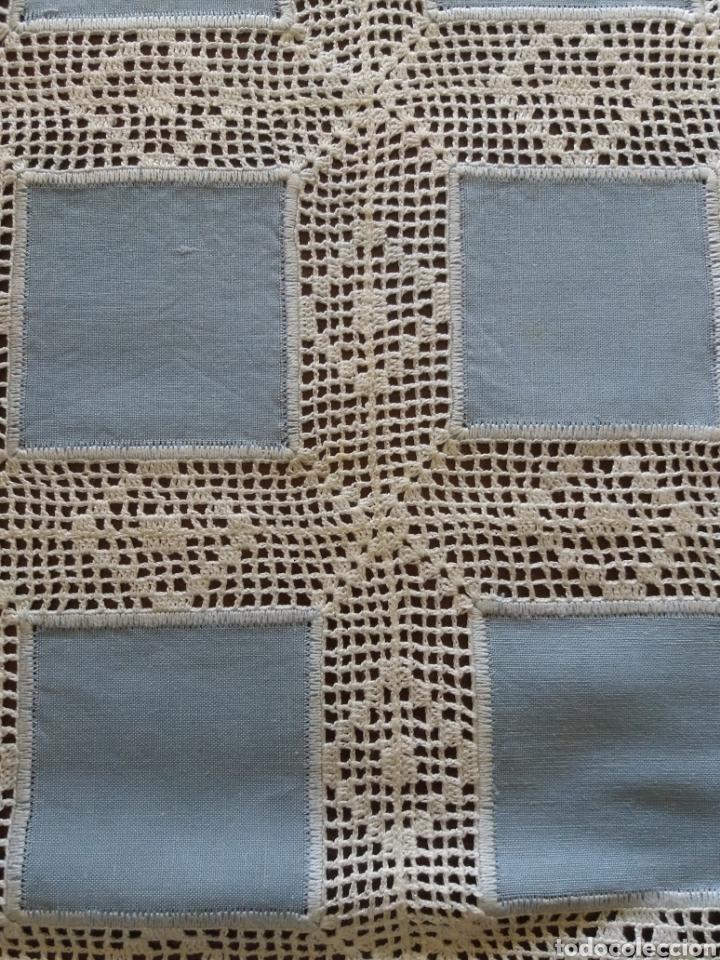 Artesanía: Camino de mesa azul - Foto 3 - 136815858