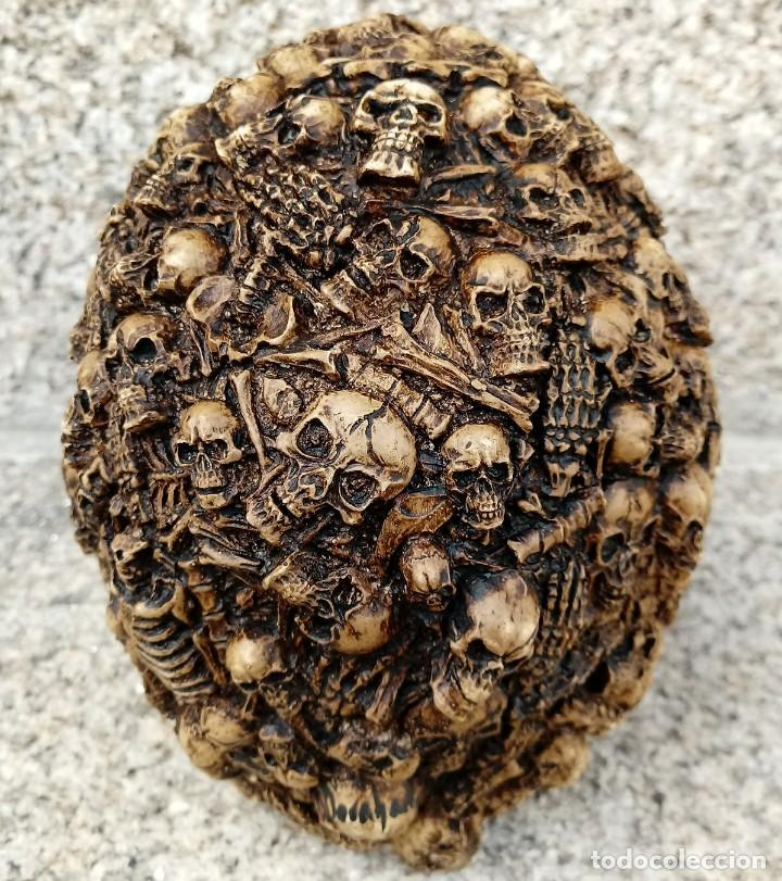 Kunsthandwerk: CALAVERA HUESOS de 15 x 12 cm en polvo de alabastro - Foto 4 - 156776753