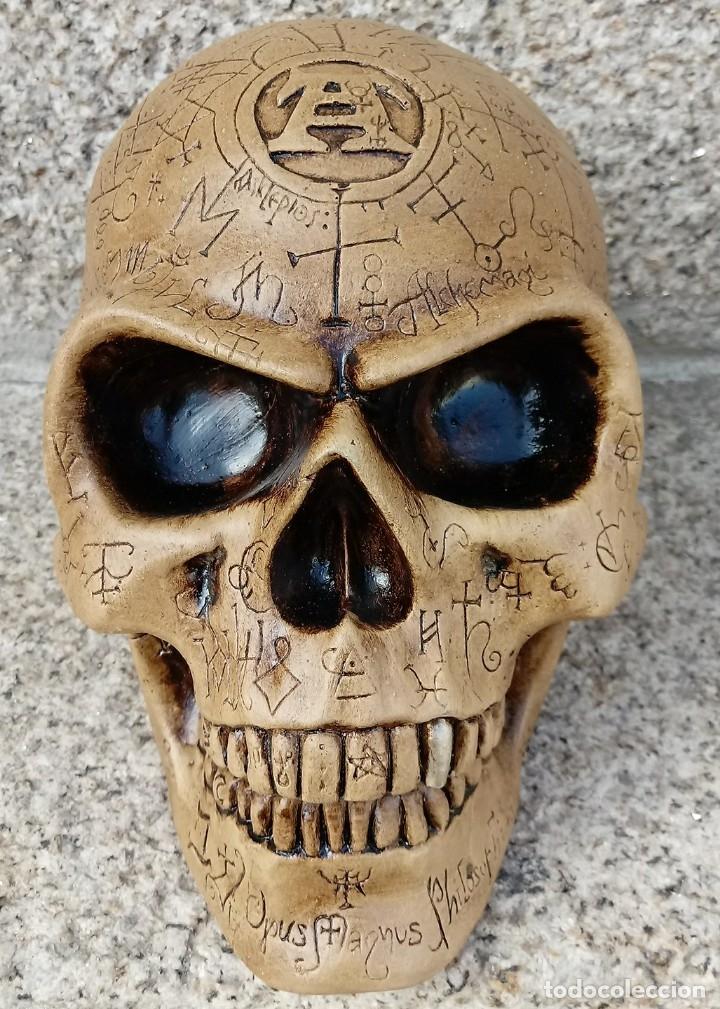 Artesanía: CALAVERA ALQUIMISTA de 22 x 12 x 11 cm en polvo de alabastro - Foto 5 - 156776952