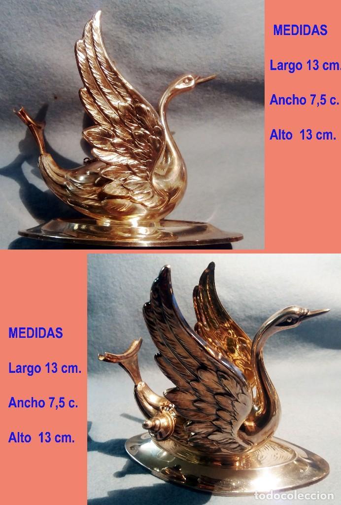 Artesanía: CALIENTA COPAS DE PLATA DE LEY CON FORMA DE CISNE. Años 50 - 60 . - Foto 2 - 137777974