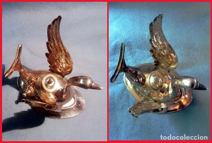 Artesanía: CALIENTA COPAS DE PLATA DE LEY CON FORMA DE CISNE. Años 50 - 60 . - Foto 5 - 137777974