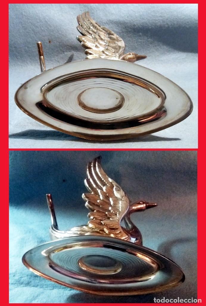 Artesanía: CALIENTA COPAS DE PLATA DE LEY CON FORMA DE CISNE. Años 50 - 60 . - Foto 7 - 137777974