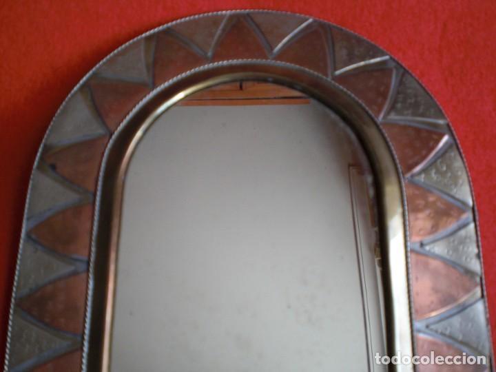 Artesanía: ESPEJO REPUJADO COBRE BRONCE LATÓN PARA PARED ARTESANÍA MARROQUÍ - Foto 3 - 138824982