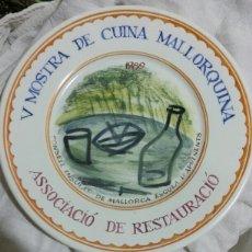 Artesanía: PLATO CONMEMORATIVO. COCINA MALLORCA.. Lote 138918405