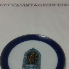 Artesanía: PLATO DE CERÁMICA CON IMAGEN DE STO.DOMINGO DE LA CALZADA, ( 12CM DE DIÁMETRO ).. Lote 140333544