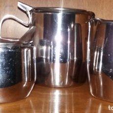 Artesanía: JUEGO DE CAFÉ DE ACERO. Lote 142350330