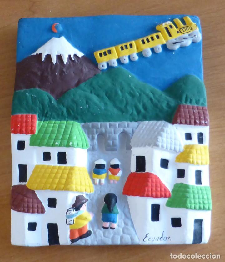 Artesanía: Aplique cerámica policromada indígena de Ecuador - Foto 2 - 142913954