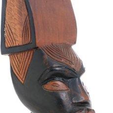 Artesanía: BUSTO AFRICANO, ESCULTURA AFRICANA, TALLA MADERA ÁFRICA. Lote 144123186