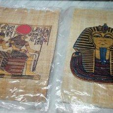 Artigianato: LOTE DE 2 PAPIROS ORIGINALES Y CERTIFICADOS - PAPIRO EGIPCIO DELTA PAPYRUS 33X25CM - EGIPTO. Lote 144840606