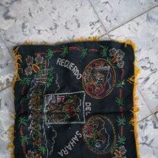Artesanía: TELA O FUNDA PARA COJIN BORDADO RECUERDO DEL SAHARA 39X42CM. Lote 146547088