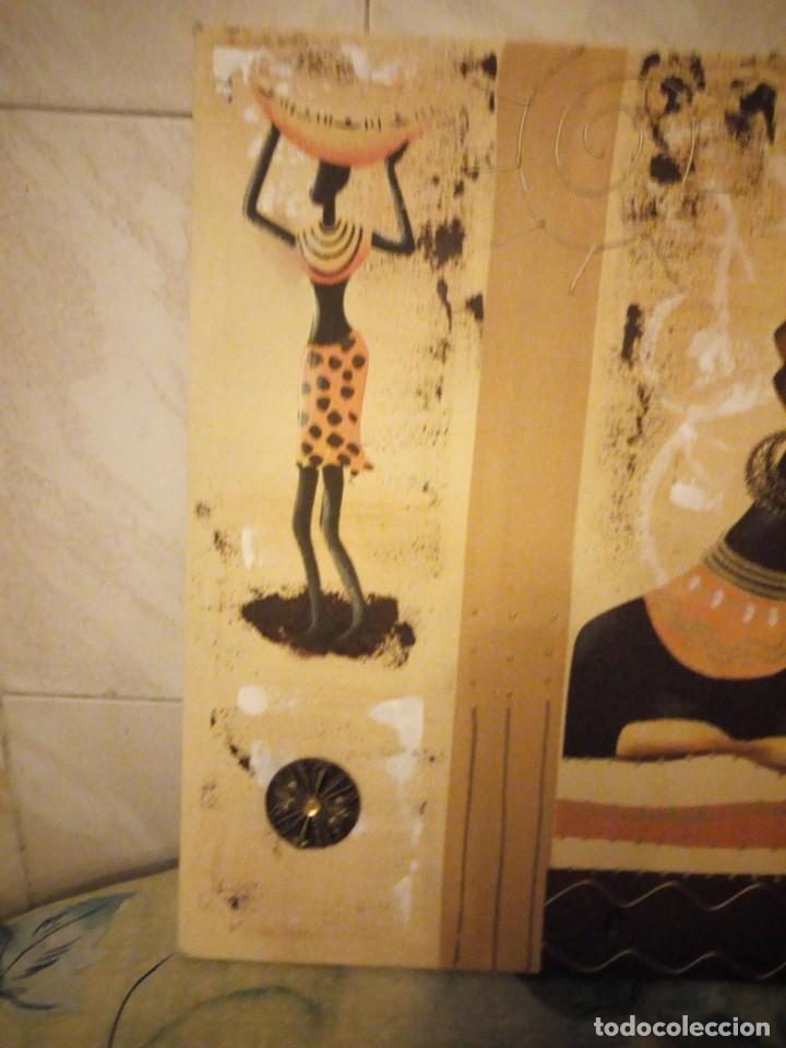 Artesanía: Bonito lienzo pintado a mano imagen africana. - Foto 3 - 147468282