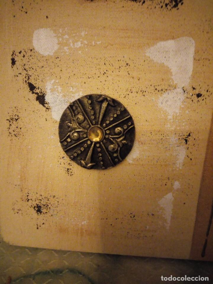 Artesanía: Bonito lienzo pintado a mano imagen africana. - Foto 4 - 147468282