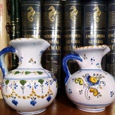 Handicraft - BONITO,LOTE - DOS JARRONES DE CERÁMICA DE TALAVERA AÑOS 50 - 147689086