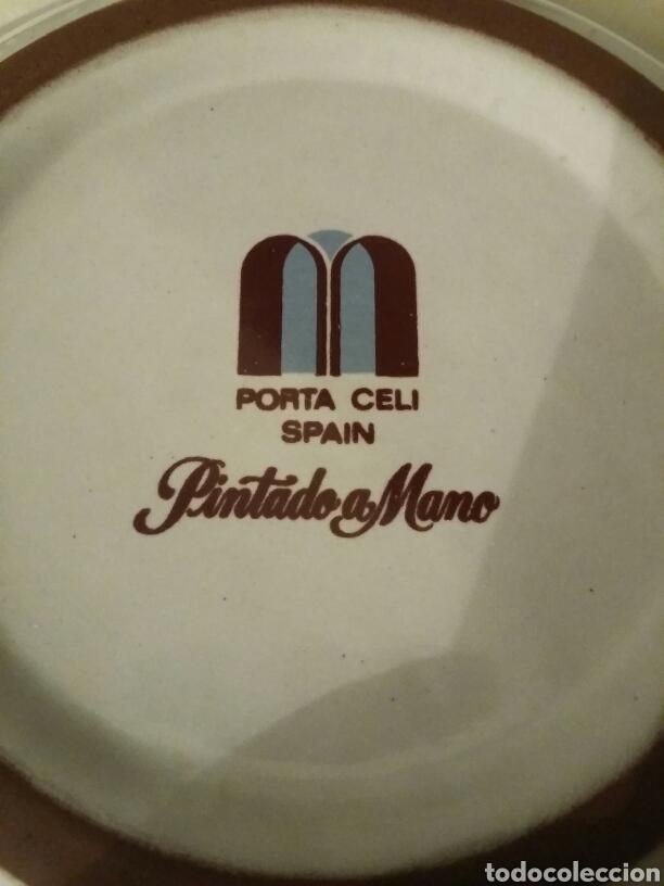 Artesanía: Plato cenicero cerámica años 1960/70 pintado a mano, PORTA CELI - Foto 3 - 147744096