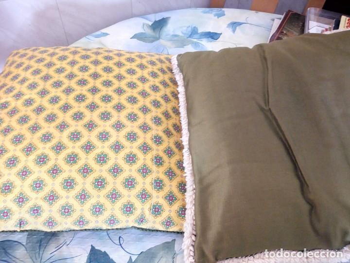 Artesanía: Lote de 2 cojines bordados a mano,motivo floral. - Foto 7 - 147781054