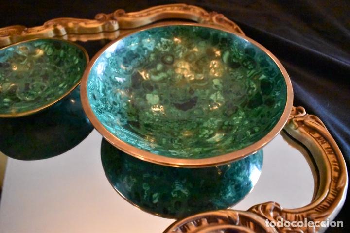 Artesanía: Set de tres cuencos de Malaquita. ENVÍO GRATUITO. - Foto 2 - 150182913