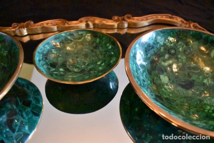 Artesanía: Set de tres cuencos de Malaquita. ENVÍO GRATUITO. - Foto 3 - 150182913