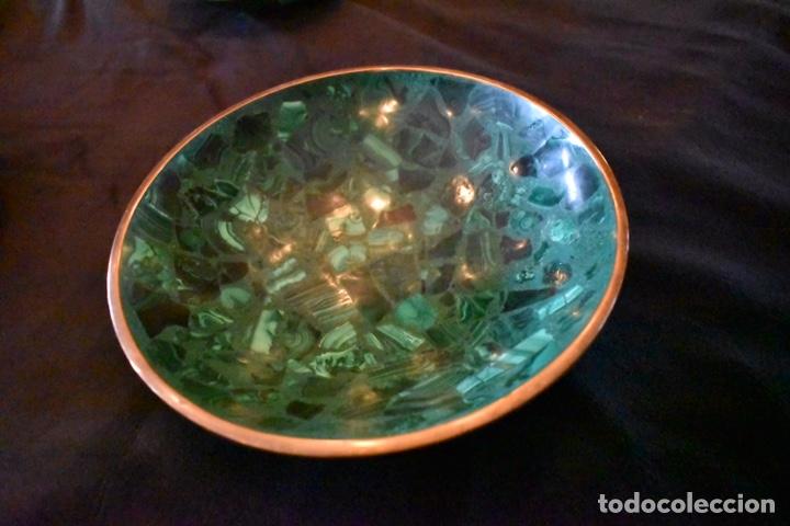 Artesanía: Set de tres cuencos de Malaquita. ENVÍO GRATUITO. - Foto 4 - 150182913