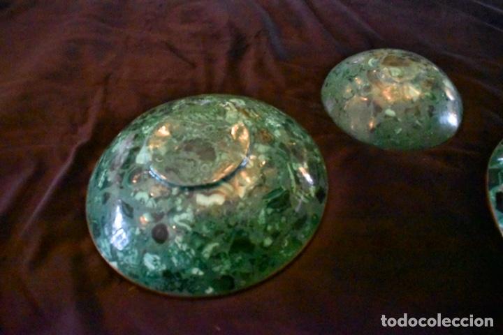 Artesanía: Set de tres cuencos de Malaquita. ENVÍO GRATUITO. - Foto 5 - 150182913