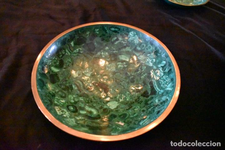 Artesanía: Set de tres cuencos de Malaquita. ENVÍO GRATUITO. - Foto 6 - 150182913