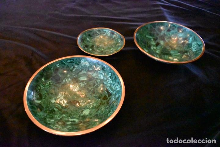 Artesanía: Set de tres cuencos de Malaquita. ENVÍO GRATUITO. - Foto 7 - 150182913