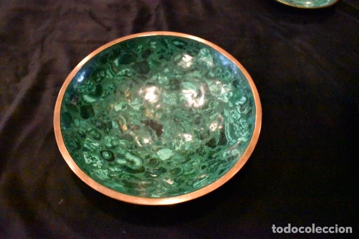 Artesanía: Set de tres cuencos de Malaquita. ENVÍO GRATUITO. - Foto 9 - 150182913