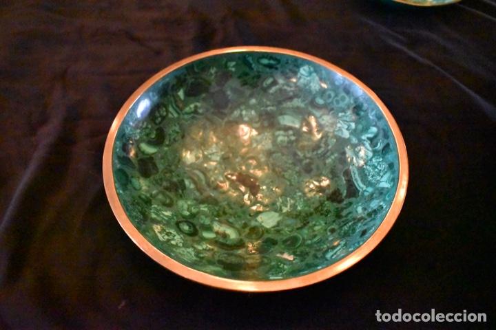 Artesanía: Set de tres cuencos de Malaquita. ENVÍO GRATUITO. - Foto 10 - 150182913