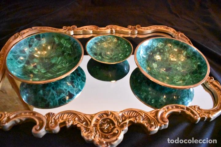 Artesanía: Set de tres cuencos de Malaquita. ENVÍO GRATUITO. - Foto 11 - 150182913
