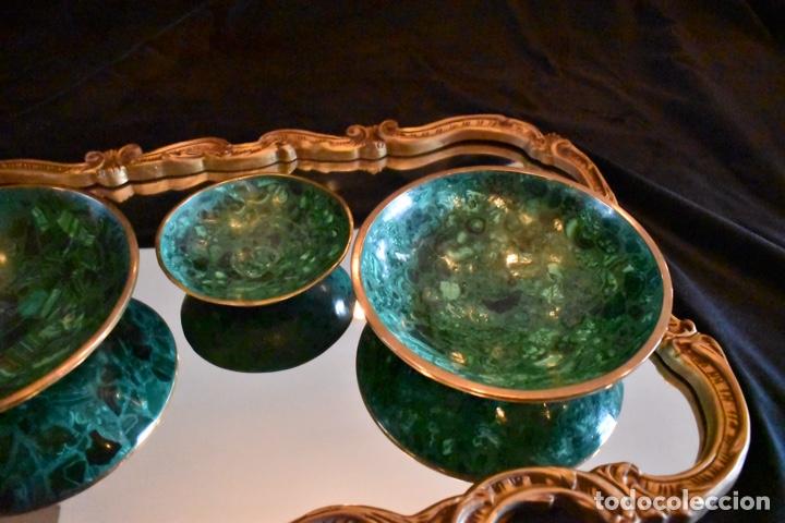 Artesanía: Set de tres cuencos de Malaquita. ENVÍO GRATUITO. - Foto 12 - 150182913