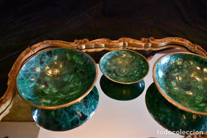 Artesanía: Set de tres cuencos de Malaquita. ENVÍO GRATUITO. - Foto 13 - 150182913