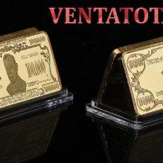 Artesanía: ESTADOS UNIDOS LINGOTE 100 MIL $ ORO DE 24 KILATES 46 GR ( WILSON PRESIDENTE DE 1913 A 1921 ) Nº6. Lote 152478638