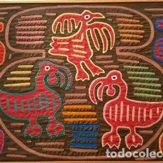 Artesanía: CUADRO TAPIZ - AZTECA O SIMILAR - TIPO TACHWORK - DE MEDIDAS - 43 CTMS X 34 CTMS ALTO . Lote 152701174