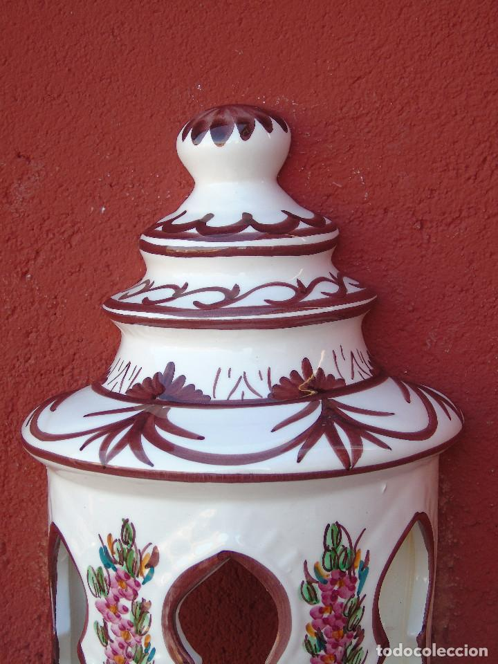 Artesanía: APLIQUE DE CERÁMICA, ESMALTADO EN BLANCO, FLORECITAS ROSAS. ALARGADO. PARA COLGAR EN LA PARED. - Foto 6 - 153330430