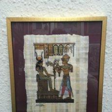 Artesanía: PERGAMINO EGIPCIO FIRMADO. Lote 153661306