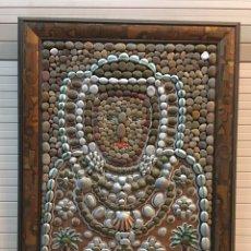 Artesanía: CUADRO ARTESANAL DAMA DE ELCHE , PIEDRAS Y CONCHAS. ÚNICO.. Lote 154323622