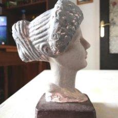 Artesanía: ANTIGUO BUSTO DE BARRO ANTIGUA GRECIA O ROMA ARQUEOLOGÍA . Lote 154536970