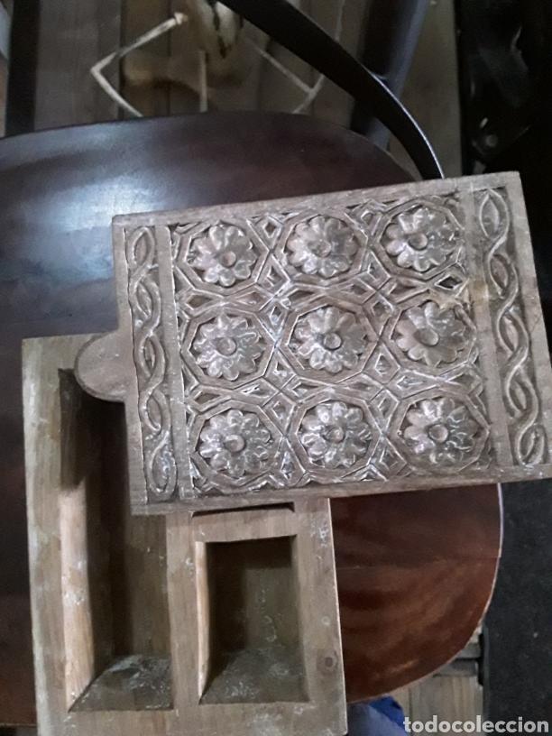 Artesanía: Caja de madera tallada - Foto 6 - 154984356