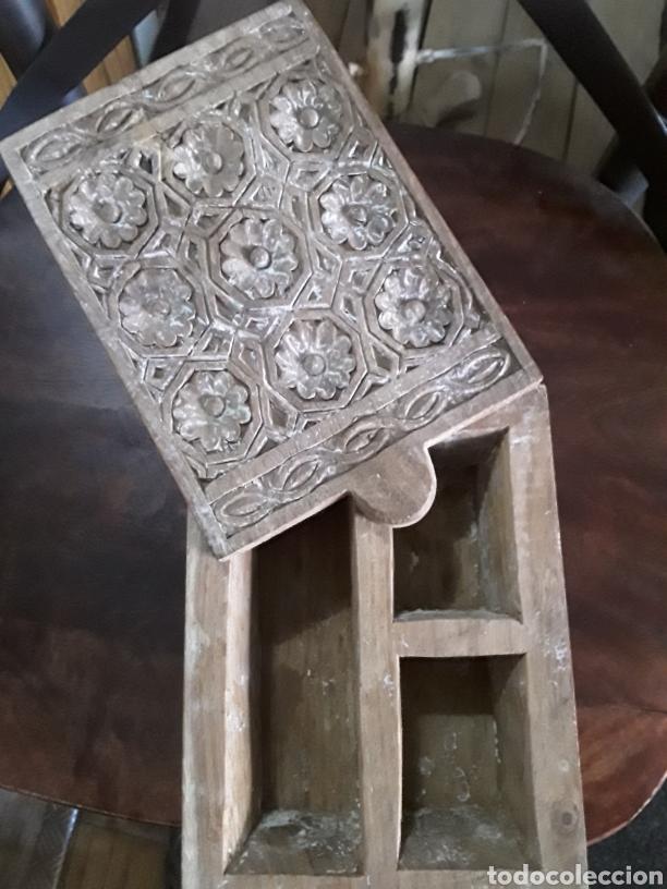 Artesanía: Caja de madera tallada - Foto 7 - 154984356