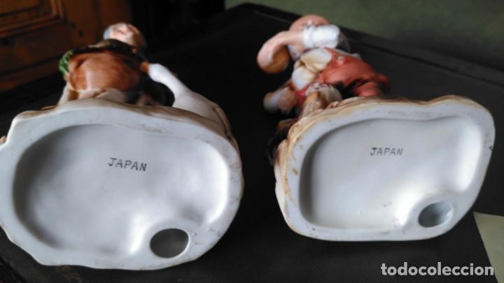 Artesanía: Ceramica, pareja de ancianos, 21 x 9 x 7 cm. Vintage. Marca en base Japan. de los años 1960.Nuevas. - Foto 2 - 154988254