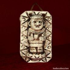 Artesanía: PEQUEÑA FIGURA PARA COLGAR VINTAGE AZTECA, INCA O MAYA?. Lote 156516542