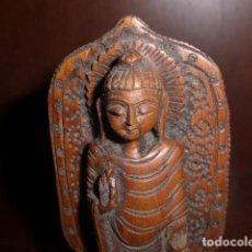 Artesanía: BUDA DE MADERA TALLADA . Lote 156535386