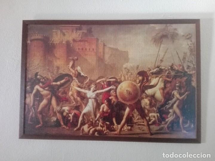 PUZZLE ENMARCADO Y PROTEGIDO: EL RAPTO DE LAS SABINAS 127X86CM (Artesanía - Hogar y Decoración)