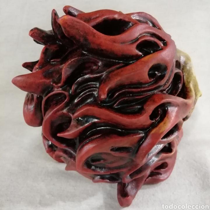 Artesanía: CALAVERA FLAME SKULL de 17x14 en polvo de alabastro - Foto 6 - 156775933