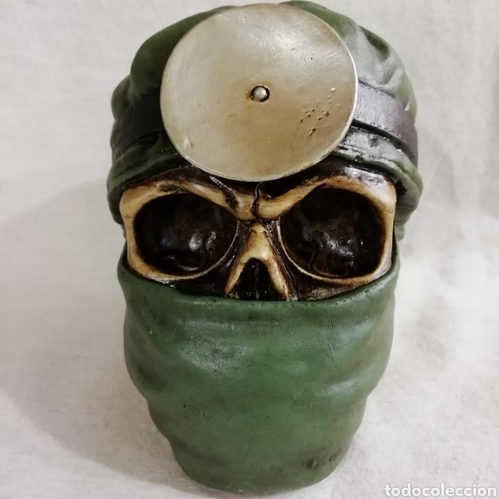 Artesanía: CALAVERA THE DOCTOR SKULL de 14x13 en polvo de alabastro - Foto 2 - 156776177