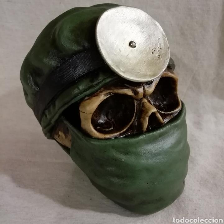Artesanía: CALAVERA THE DOCTOR SKULL de 14x13 en polvo de alabastro - Foto 3 - 156776177